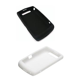 2 Pack - OEM BlackBerry 9520 9550 Storm2 Silicon Skin Case - White & Black