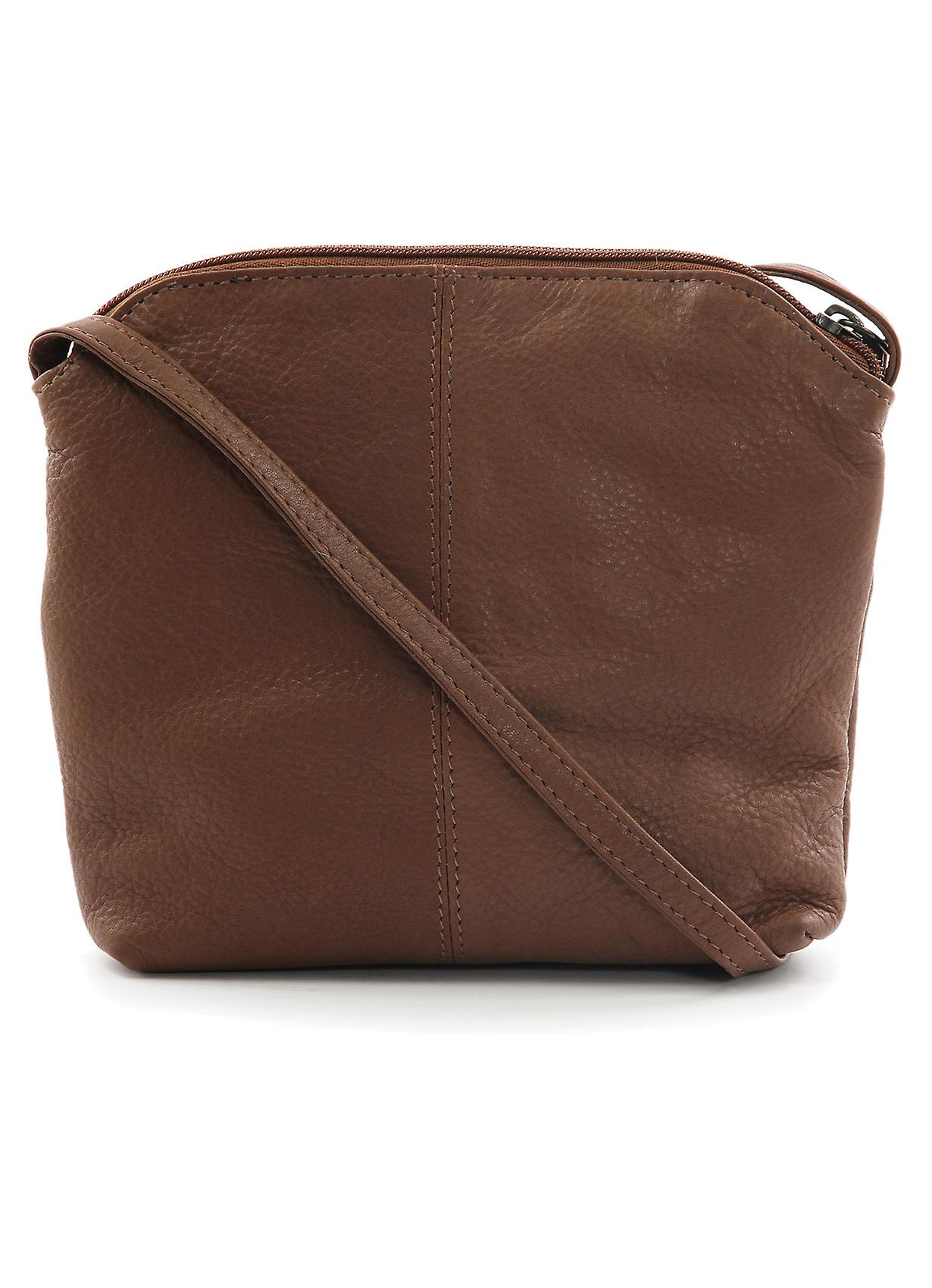 Tilly Roma Small Leather Cross Body Bag in Cognac