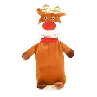 Kids Novelty Soft Padded Fleece Covered 3D Plush Hotwater Bottle - Reindeer