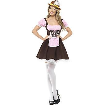 Oktoberfest Tracht Dirndl kort Tavern jente kostyme damer