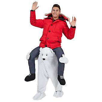 Adults Fancy Dress One Size Carry Me Polar Bear Costume