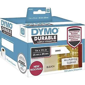 DYMO Labels (roll) 89 x 25 mm PE film White 700 pc