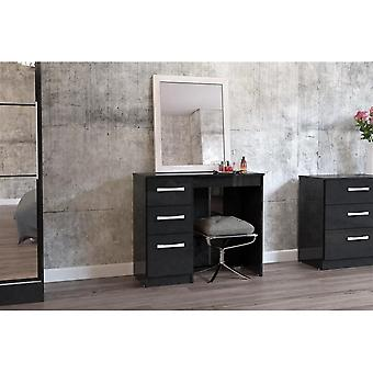 Birlea Lynx 3 Drw Dressing Table Black