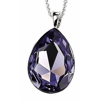 925 Silver Necklace Crystal Pendant Necklace