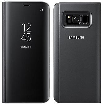 Ægte officielle Samsung Clear View stående tilfælde Flip Cover til Samsung Galaxy S8 + Plus -sort