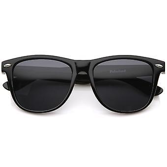 Große Oversize klassische dunkel getönten Objektiv Horn umrandeten Sonnenbrillen 55mm