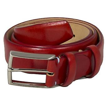 40 Colori Venezia Florentine Leather Belt - Red