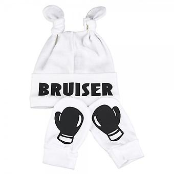 Spoilt Rotten Bruiser & Boxing Gloves Hat & Mitten Set