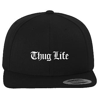 Thug Life Snapback Cap - Black Old English