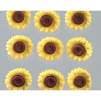 8 Sunflower Buttons for Crafts | Sewing Scrapbooking Card Making