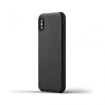 Mujjo Leather Case for iPhone X-Black