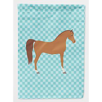 Carolines skatter BB8085CHF Araberhest blå sjekk flagg lerret huset størrelse