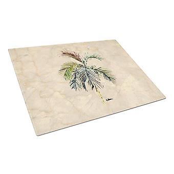 Carolines Treasures  8483LCB Palm Tree Glass Cutting Board Large