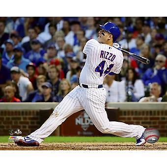 Anthony Rizzo Game 3 van de 2017 National League Division Series foto afdruk