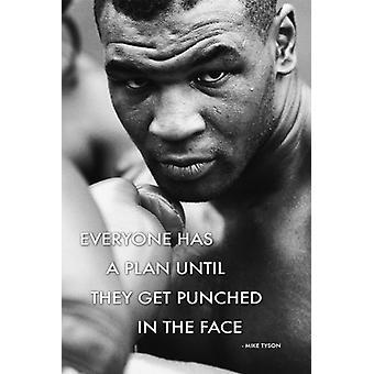 Citation de Mike Tyson affiche Poster Print