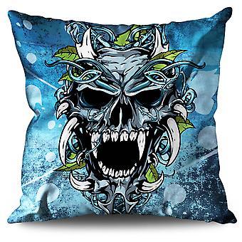 Hell Demon Linen Cushion Hell Demon | Wellcoda