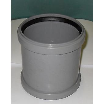 Fallrohr gerade Koppler 110 mm Einlass - Push-Fit - grau - Abfälle