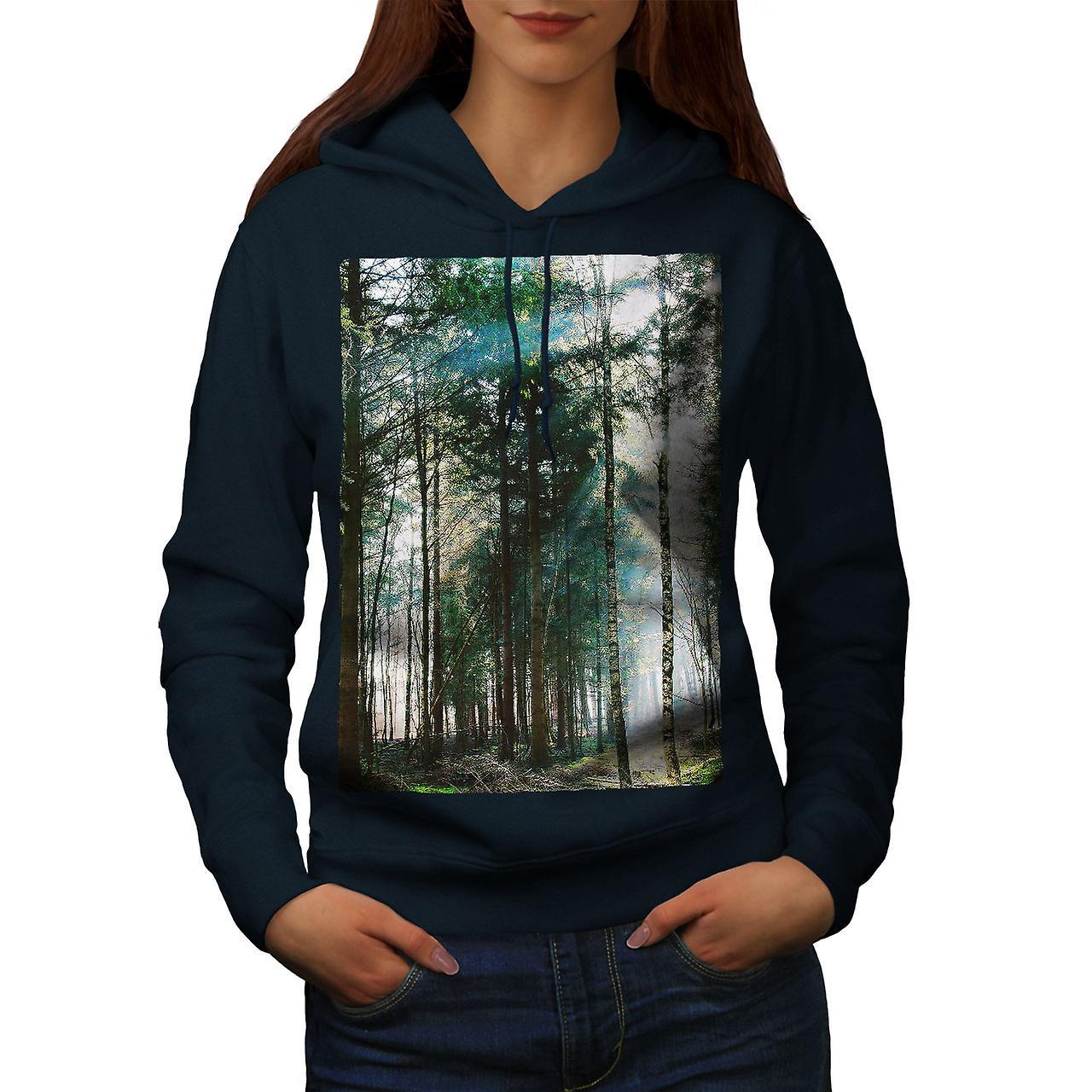 Belle Nature femmes NavyHoodie de forêt