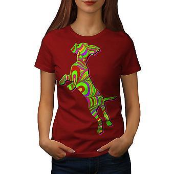 Psykedeliska hund mode kvinnor RedT-skjorta | Wellcoda