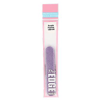The Edge Nails Purple Foamie File Single
