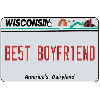 Wisconsin - mejor novio placa ambientador