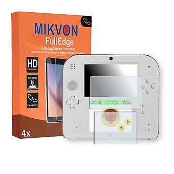 Nintendo 2DS screen protector - Mikvon FullEdge (screen protector with full protection and custom fit for the curved display)