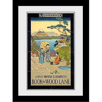 Transport For London Japan britische Ausstellung 1910 zurück zu Wood Lane gerahmten Sammler Druck