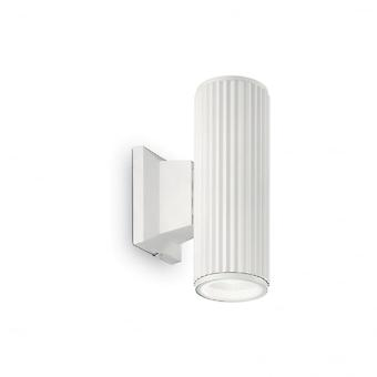 Ideal Lux Base Up And Door Porch Wall Light Tube GU10, White