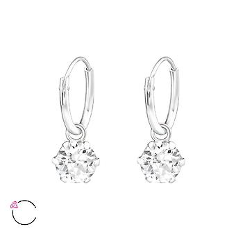 Round Crystal From Swarovski® - 925 Sterling Silver Earrings - W32857x