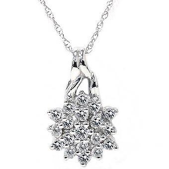 1 / 3ct løfte Diamond anheng 14K hvitt gull