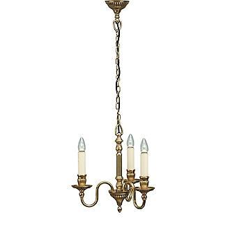 Intérieurs 1900 Fitzroy 3 ampoule lustre chambre en laiton massif