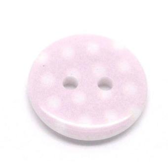 Packet 10 x Pink Resin 18mm Round 2-Holed Sew On Buttons Y08275