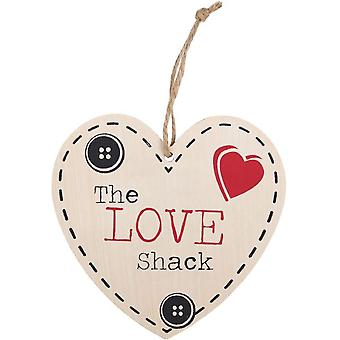 Something Different The Love Shack Hanging Heart Sign