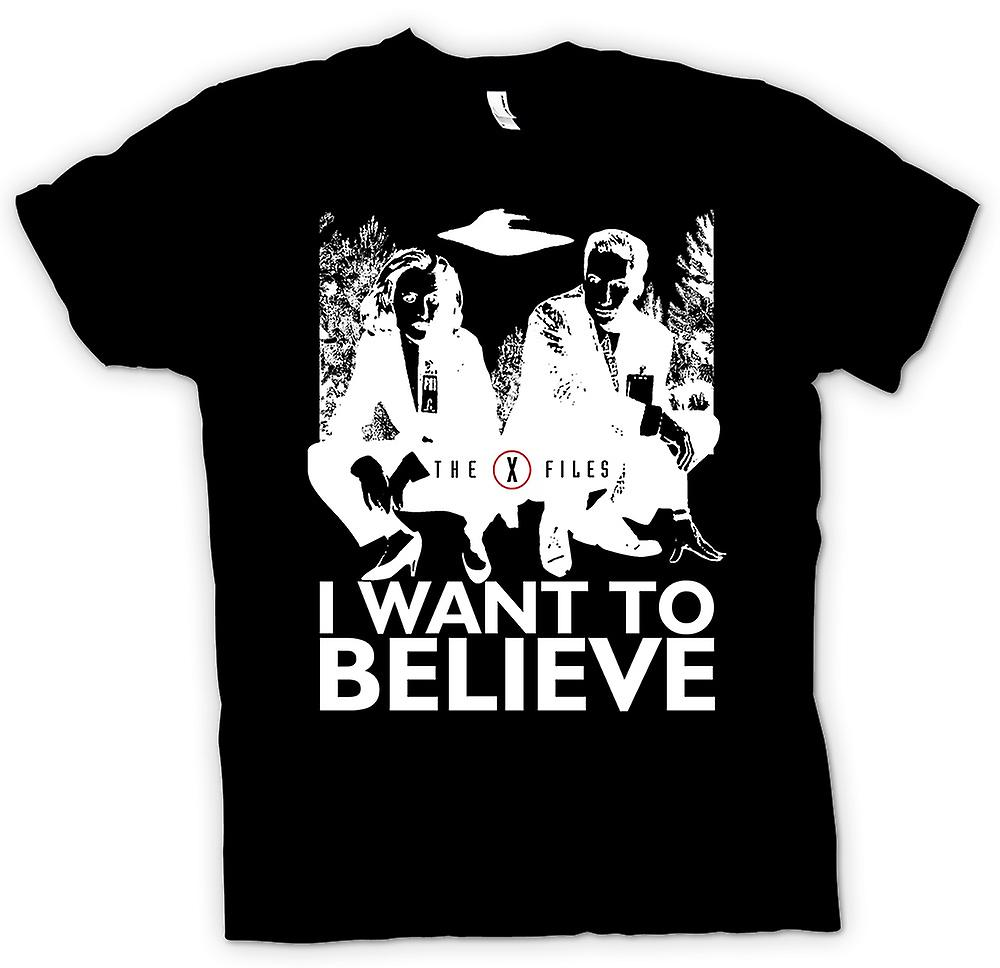 Kids T-shirt - X Files I Want To believe - UFO
