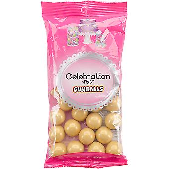 Celebrations By Sweetworks Gumballs 8oz-Shimmer (TM) Gold CG74509