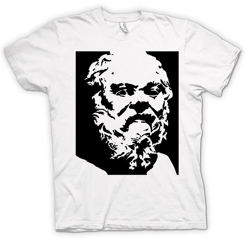 Womens T-shirt - Socrates - Stencil Icon