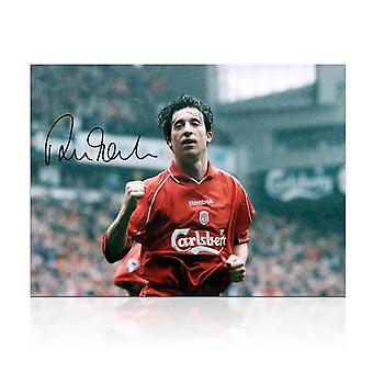 Robbie Fowler Signed Liverpool Photo: Goal Against Manchester United