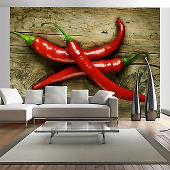 Wellindal Wall mural spicy chili peppers (Decoration , Vinyls)