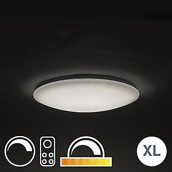 QAZQA Ceiling Lamp 60cm White with Remote Control incl. LED - Extrema