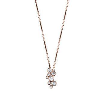 ESPRIT women's chain necklace silver Rosé cubic zirconia Symphony ESNL93226C420