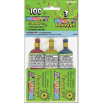 Party Favors-Snaps (100 Count) & Poppers (3 Count