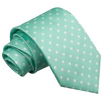 Mint Green Polka Dot Classic Tie