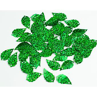 2.5g Green Leaf Holographic Sequins with Holes for Pins | Sequin Craft Supplies