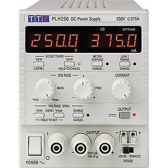 Mirare TTi PLH250 panca PSU (tensione di uscita regolabile) 0 - 250 V 0 - 0.375 A 94 W No. delle uscite 1x