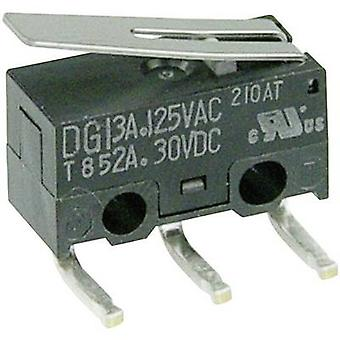 Cherry Switches Microswitch DG13-B2LA 125 V AC 3 A 1 x On/(On) momentary 1 pc(s)
