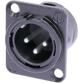Neutrik NC3MDL1BAG XLR connector Sleeve plug, straight pins Number of pins: 3 Black 1 pc(s)