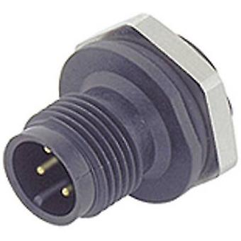 Binder 09-0431-87-04 M12 Sensor / Actuator Connector, Screw Cap, Straight
