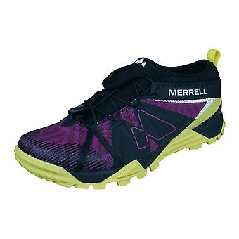 Womens Merrell Trail Runner Trainers Avalaunch Shoes - Black and Purple