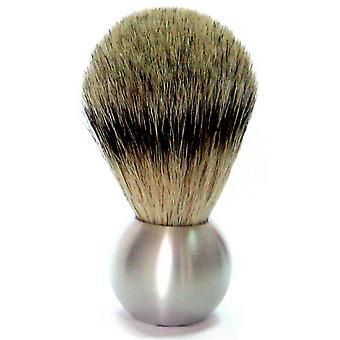 Shaving brushes obtain with Badger plucking hair, aluminum handle