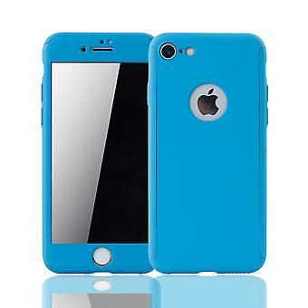 Apple iPhone 6 / 6s cell phone case protective case cover tank protection glass light blue